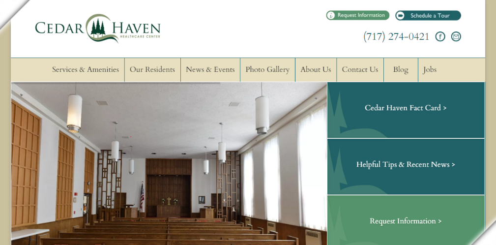 Cedar Haven Healthcare Center Website
