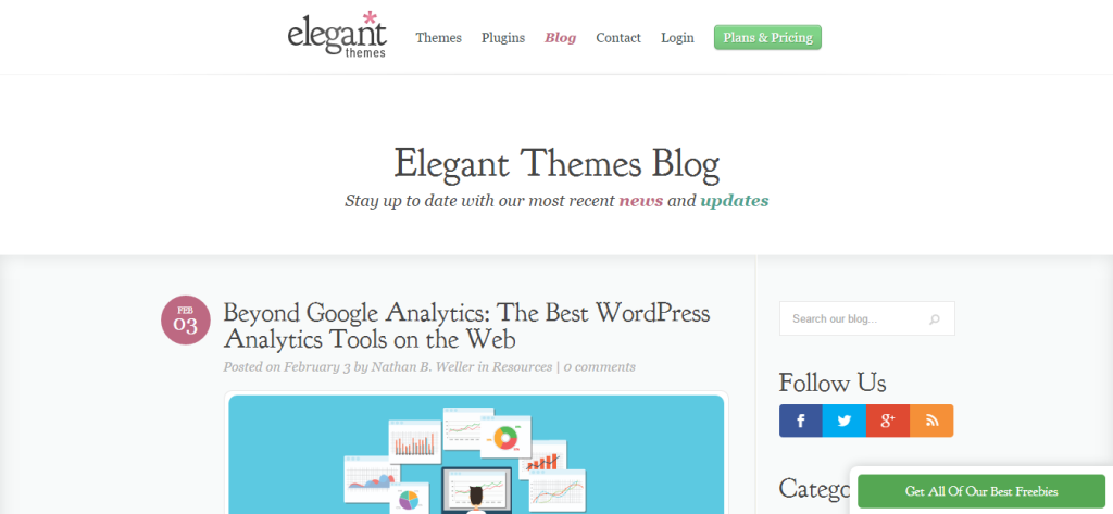 Elegant Themes Blog for WordPress Developers