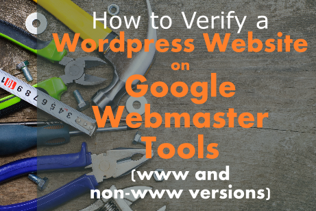 Google Webmaster Tools Verification for WordPress