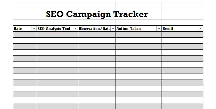 seo campaign tracker