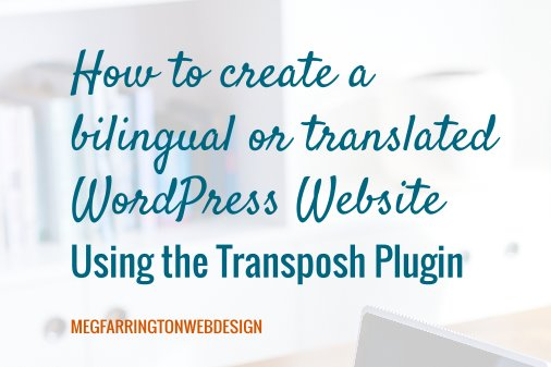 How to Create a Translated or Bilingual WordPress Website using the Transposh Plugin